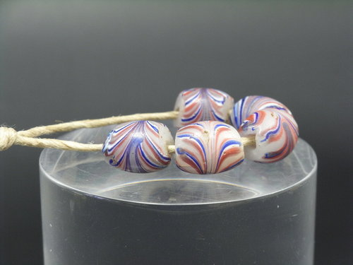 5 antike Muranoglasperlen/Handelsperlen/Trade Beads